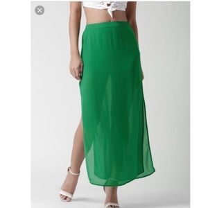 NWT maxi skirt with slit